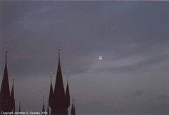 Tynsky Chram And The Moon At Dusk, Prague, CZ, 2006