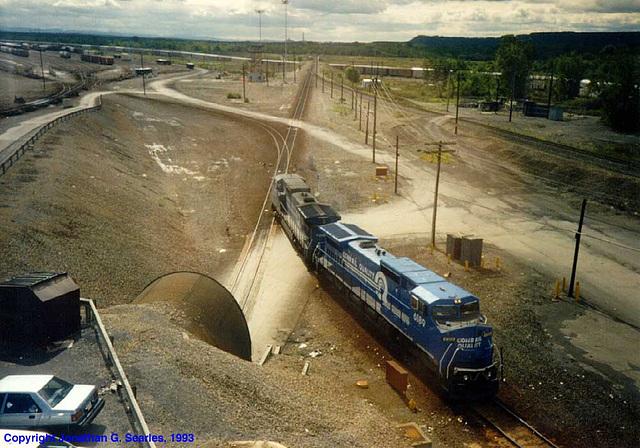 Conrail G.E. Dash 8s At Selkirk, NY, USA, 1993