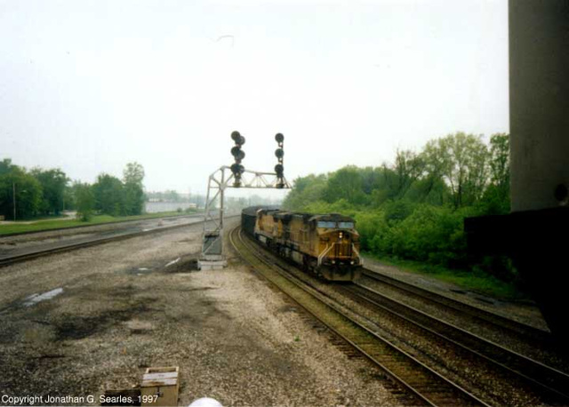 Union Pacific Unit Coal Train From Berea Tower, Berea, OH, USA, 1997