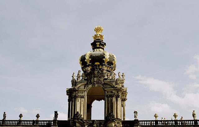 Onion Dome On Zwinger Palace, Dresden, Sachsen (Saxony), Germany, 2005