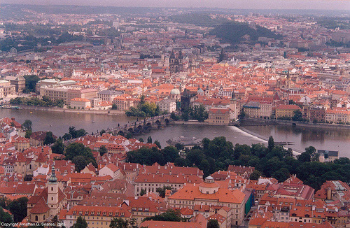 View From Petrin Hill, Prague, CZ, 2005