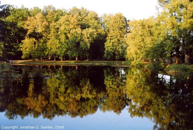 Reflection In Pond, Cesky Krumlov, South Bohemia(CZ), 2006