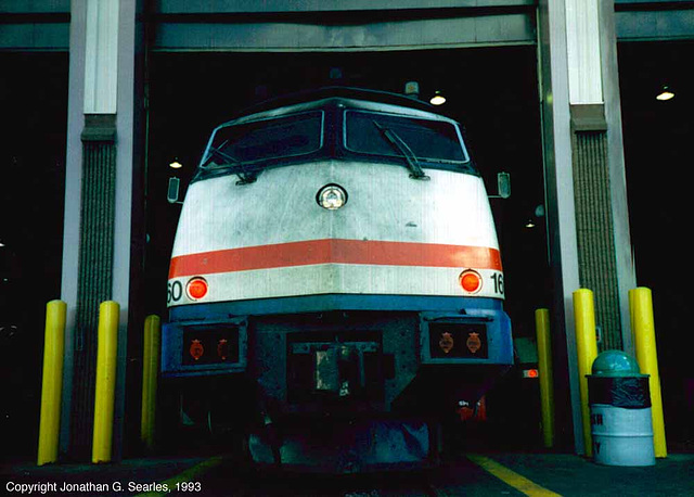 Amtrak #160 At The Amtrak Turbo Shop, Rensselaer, NY, USA, 1993