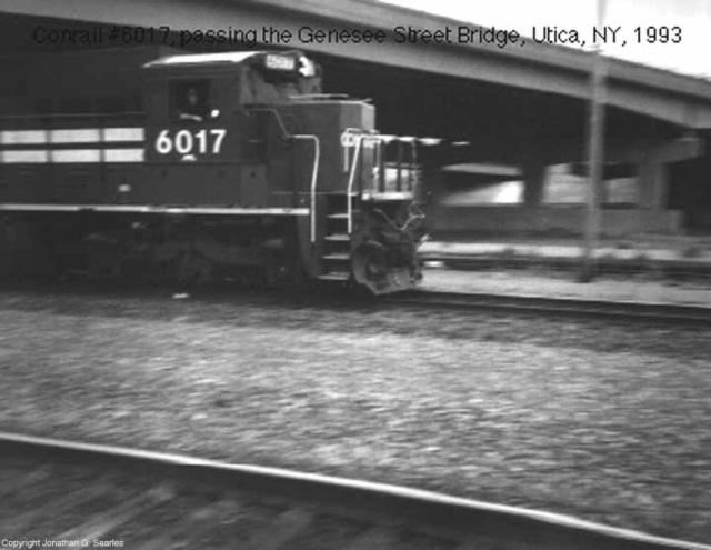 Conrail #6017, Utica, NY, USA, 1993