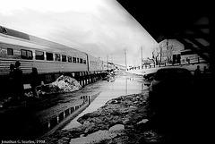 Amtrak Train #69 At Plattsburgh, NY, USA, 1998