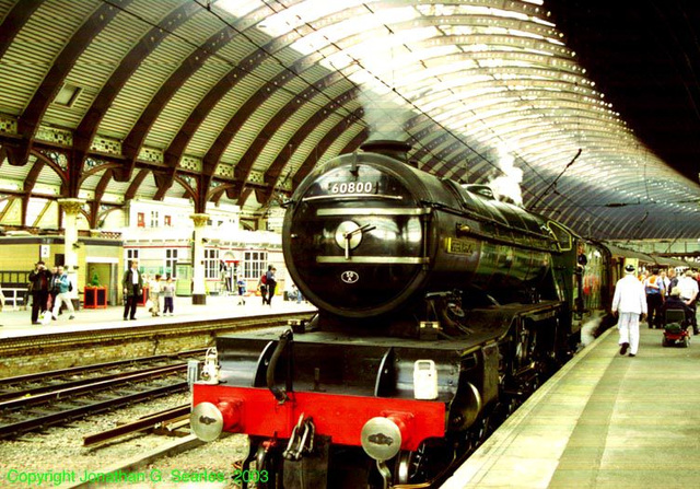 "ex-LNER #4771 (ex-BR #60800), ""Green Arrow,"" York Central Station, York, North Yorkshire, UK, 2003"