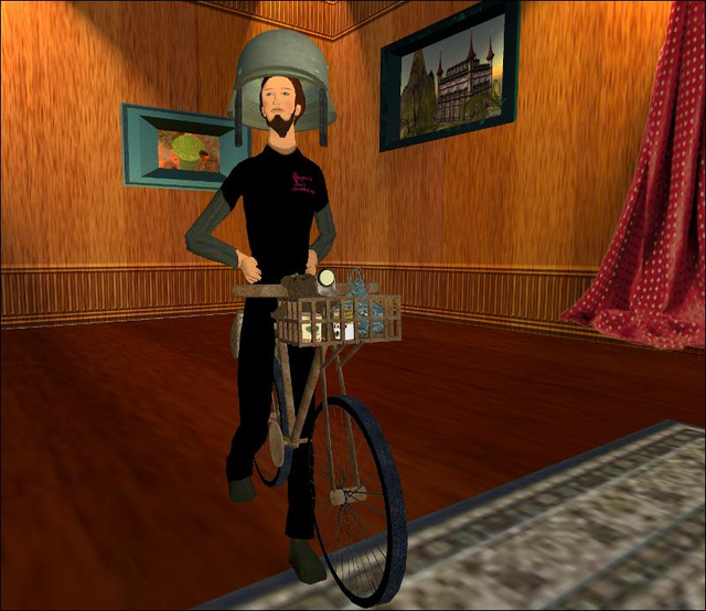 bicycling visitor