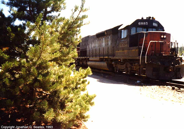 Cotton Belt #6885, Truckee, CA, USA, 1993