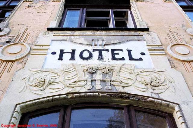 Hotel Sign, Josefuv Dul, Liberecky Kraj, Bohemia(CZ), 2006