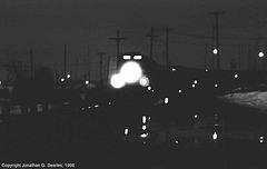 Amtrak Train #70 Arriving In Plattsburgh, NY, USA, 1998