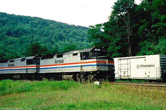 Amtrak's Broadway Limited On Horseshoe Curve, Altoona, PA, USA, 1994