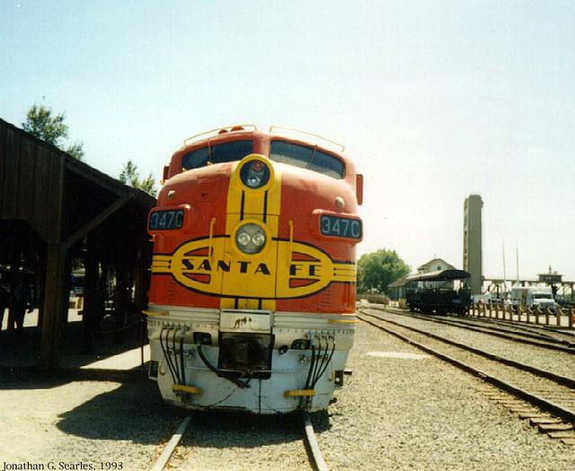 ATSF #347c, Picture 2, Sacramento, CA, USA, 1993