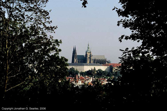 St. Vitus's Cathedral Framed By Trees, Prague, CZ, 2006