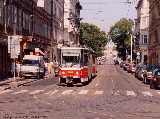 DPP #8699, Tatra T6A5 tram at Ujezd, Prague, CZ, 2005