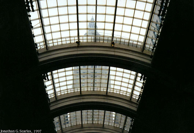 Glass Roof, Cleveland Union Terminal (C.U.T., Picture 6), Cleveland, Ohio, USA, 1997