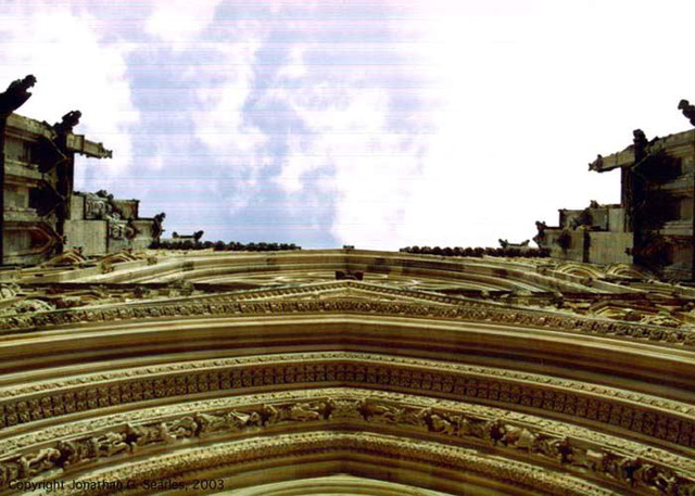 York Minster--Sky, York, North Yorkshire, UK, 2003