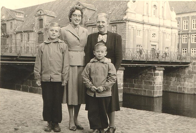 am Stintmarkt in Lüneburg 1956