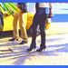 Taxi et talons aiguilles Maghrébins /   Taxi and North Africa stilletos heeled boots-  Ipernity friend's gift  -  Cadeau d'une Amie Ipernity-  Janvier 2009 -  Couleurs accentuées avec photofiltre
