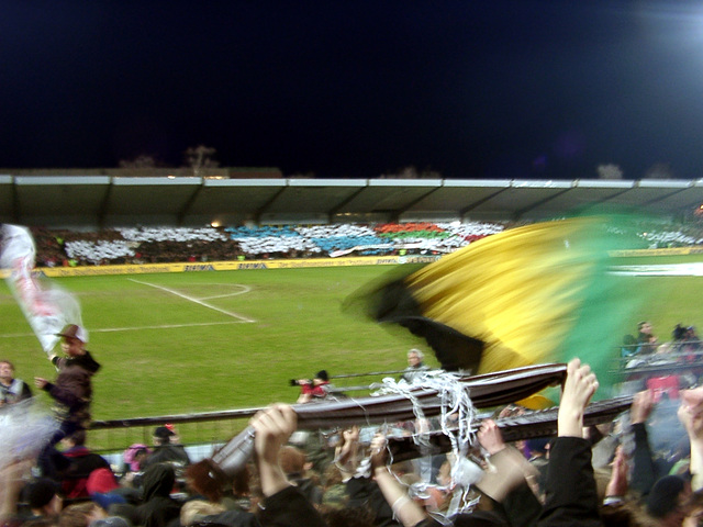 The colors of the teams which lost against St.Pauli before