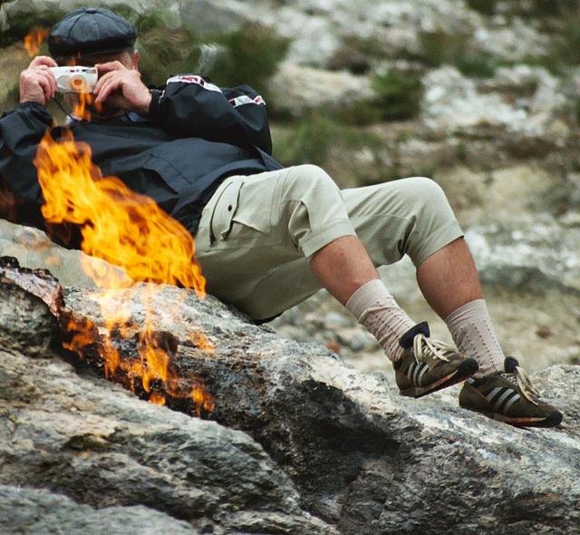 am ewigen Feuer von Chimeira /never ending fire in the desert
