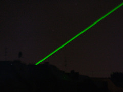Green laserlights (during Wourldcup 2006)