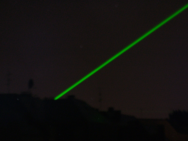 Green laserlights (during Wourldcup 2006)