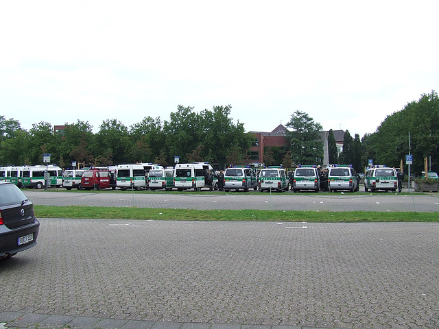 demo bocholt 003: Polizei
