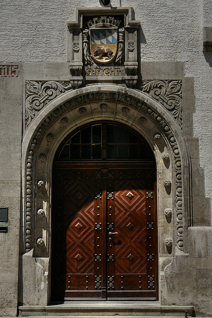 Freising - Entrance to the Town Hall