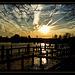 Sunset over *Kiel-Holtenau*.