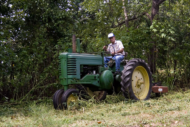 John Deere Model A Tractor- 1957 & My Dad.