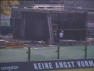 Stadionbau - Webcam am 09.08.08 um 17:00 Uhr