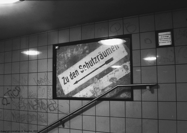 World War II Bomb Shelter, Unknown U-Bahn Station, Berlin, Germany, 2007