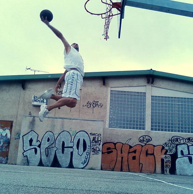 Mon fils au basket