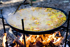Paella in  the making
