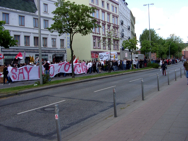 Demonstration against rassism, repression and commerzialisation of soccer
