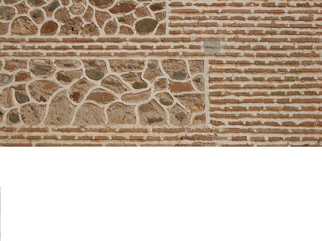 gemischte Mauer in der Alhambra - Granada, Andalusien