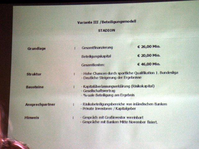 Diverse Varianten, ein Stadion neu zu bauen (oder auch nicht...), wurden vorgestellt...