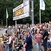 St.Pauliblock, ungewöhnlich leer, 30 Minuten vor Spielbeginn