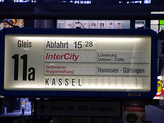 Train-service-indicator at central stadion