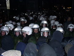 The police abusing the right to demonstrate