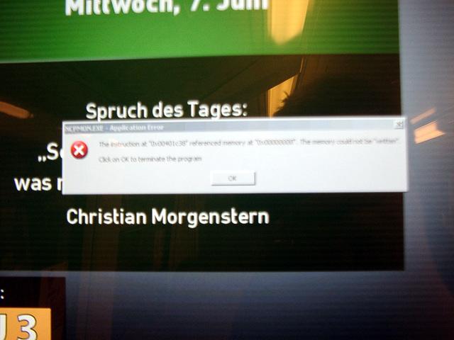 Windowsfehler in der U-Bahn