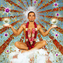 inspired by.. Pierre et Gilles - or - Chico in the sky with diamonds