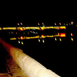 Sevilla, bridge over river Guadalquivir