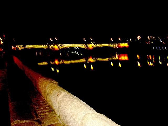 Sevilla, bridge over river Guadalquivir