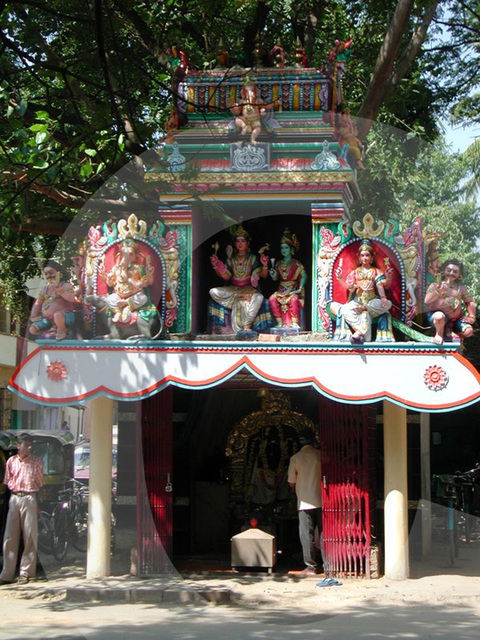 temple on the street