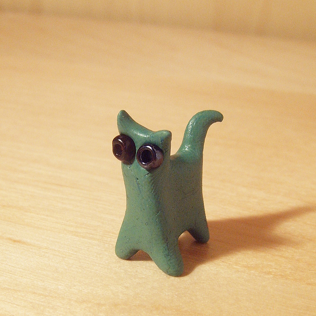 Tiny Green Cat