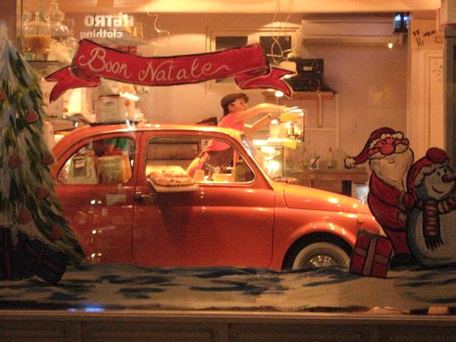 Car in a bar