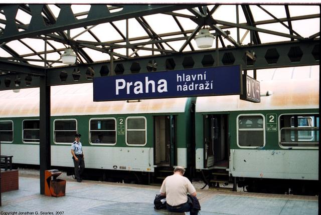 Praha Hlavni Nadrazi Sign, Prague, CZ, 2007