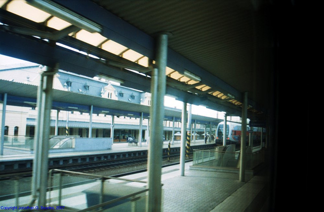 Train Window at Lysa nad Labem, Bohemia (CZ), 2007
