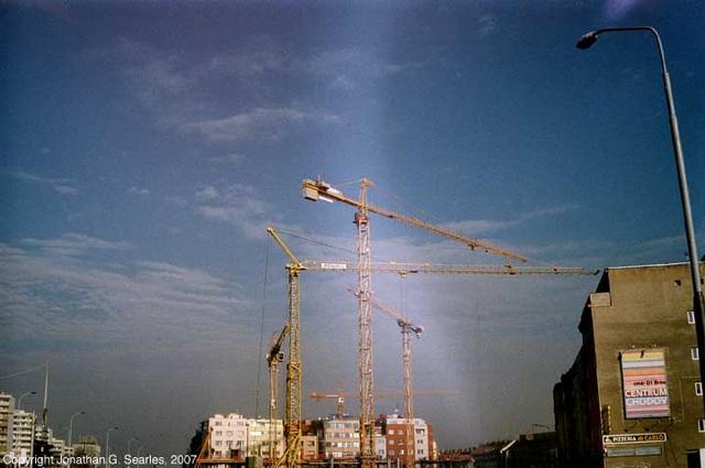 Cranes, Pankrac, Prague, CZ, 2007
